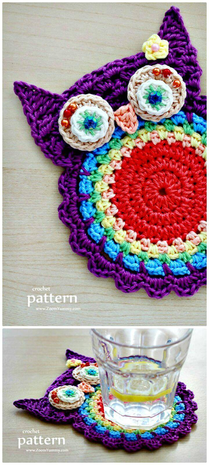 Crochet owl 92 free crochet owl patterns diy crafts free crochet owl coasters appliques new pattern bankloansurffo Gallery