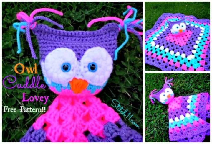 Free Crochet Owl Cuddle Lovey Pattern