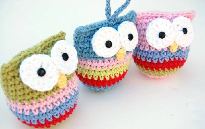 How To Free Crochet Owl Ornament Pattern