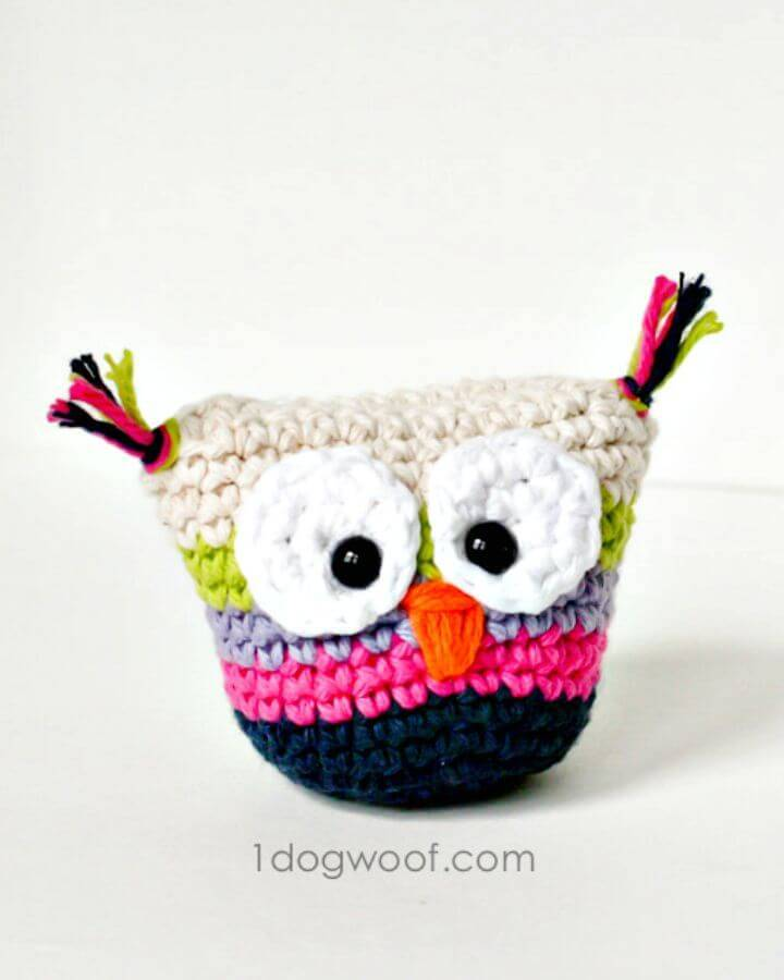 How To Crochet Owl Pouch With Free Pattern