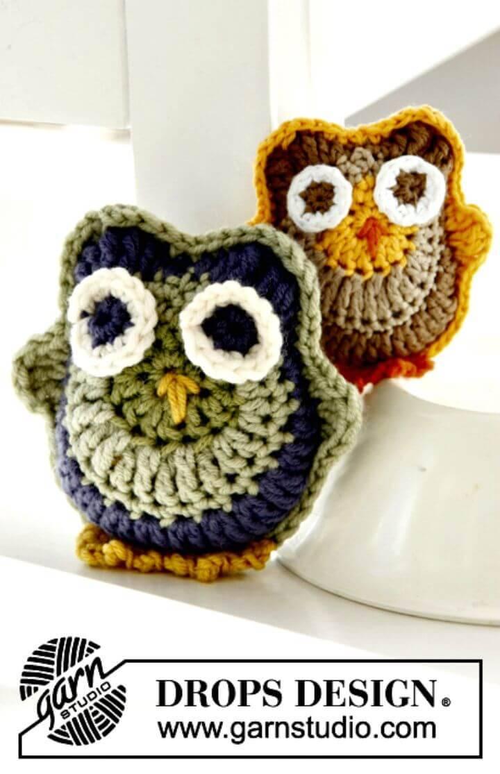 Crochet Owls In Merino Extra Fine - Free Pattern