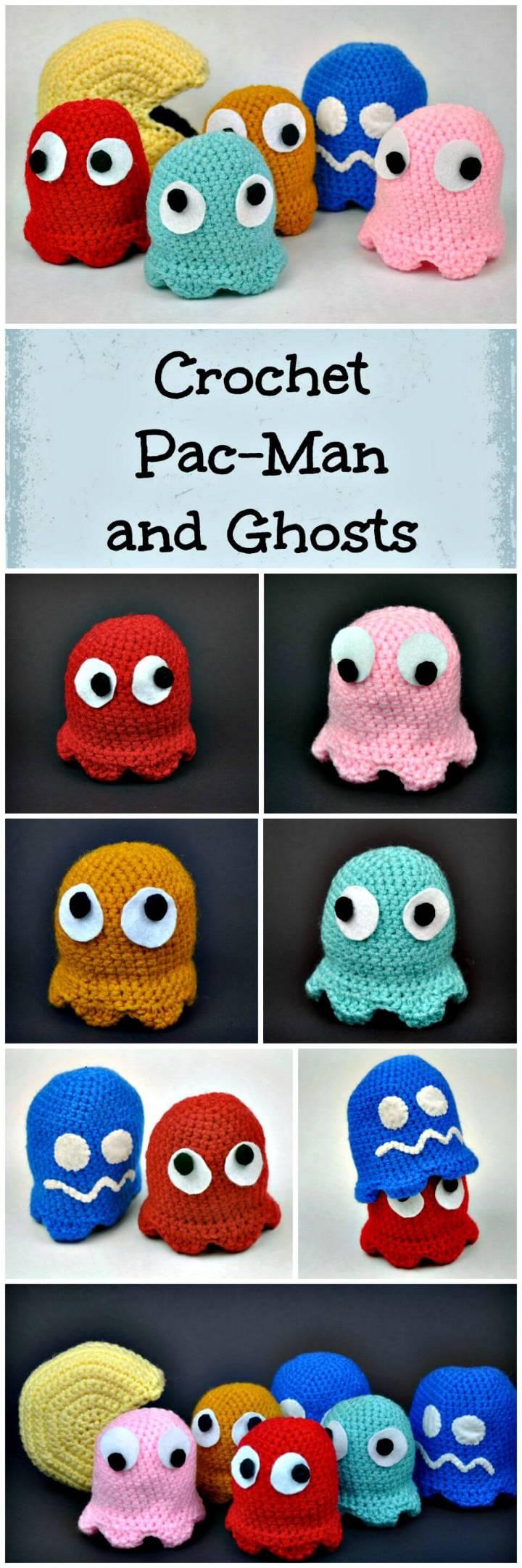 Crochet Pac-Man and Ghosts Amigurumi Pattern