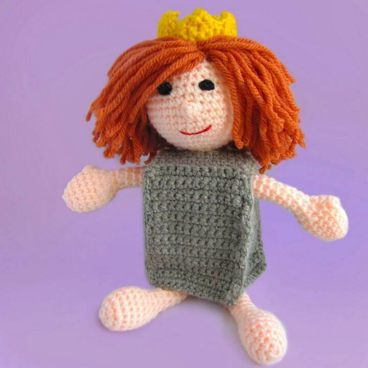 Make A Paper Bag Princess Doll Amigurumi - Free Crochet Pattern