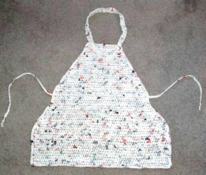 Crochet Plarn Apron - Free Pattern