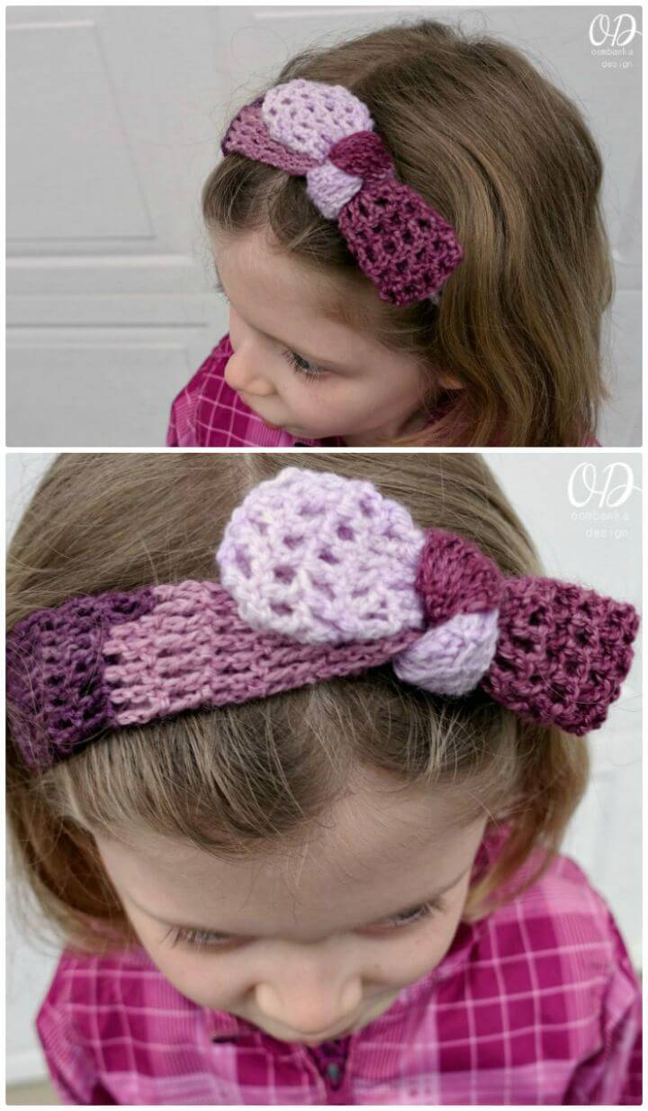 How To Free Crochet Plum Dandy Simple Tied Headband Pattern