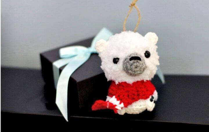 How To Crochet Polar Bear Ornament Free Pattern