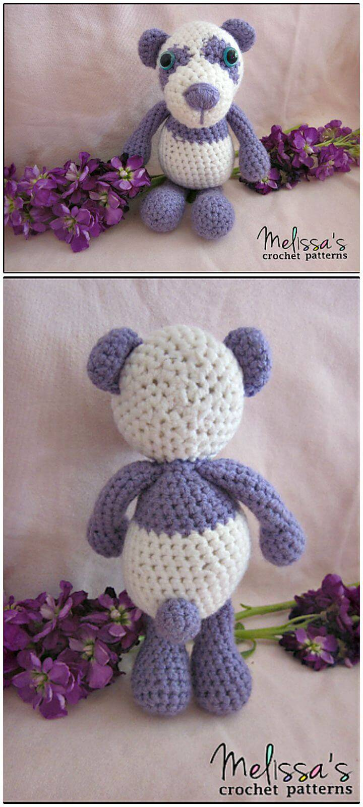 How To Crochet Precious The Purple Teddy Bear - Free Pattern