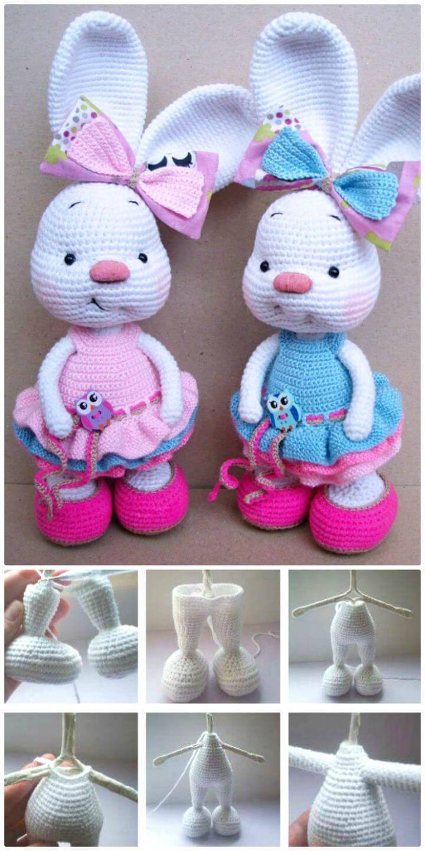 Crochet Pretty Bunny Amigurumi In Dress - Free Pattern