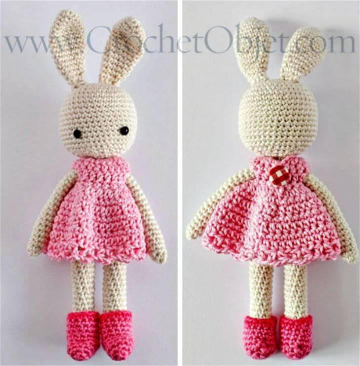 Free Crochet Pretty In Pink Bunny Dress Pattern