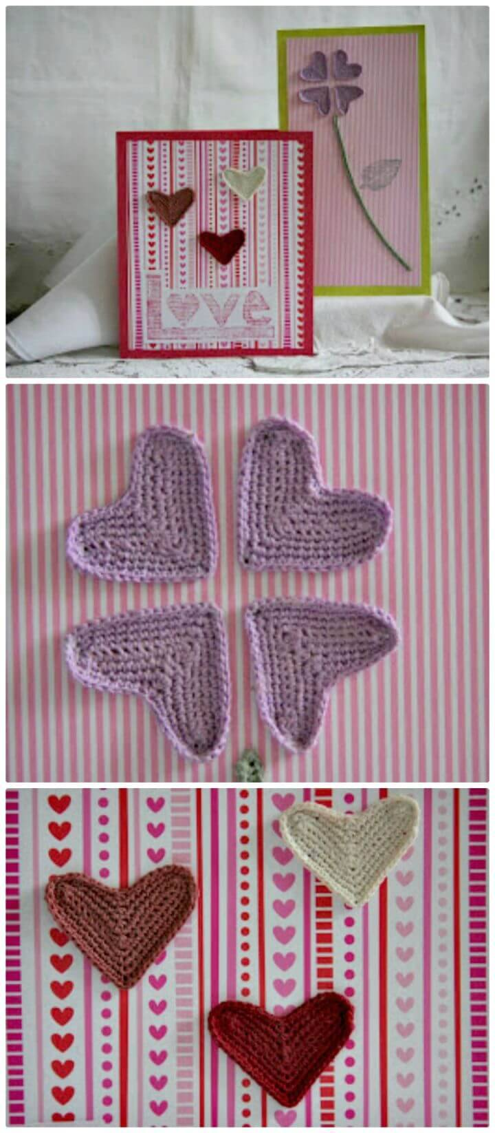 Easy Crochet Pretty 'Lil Heart - Free Valentine Day Pattern