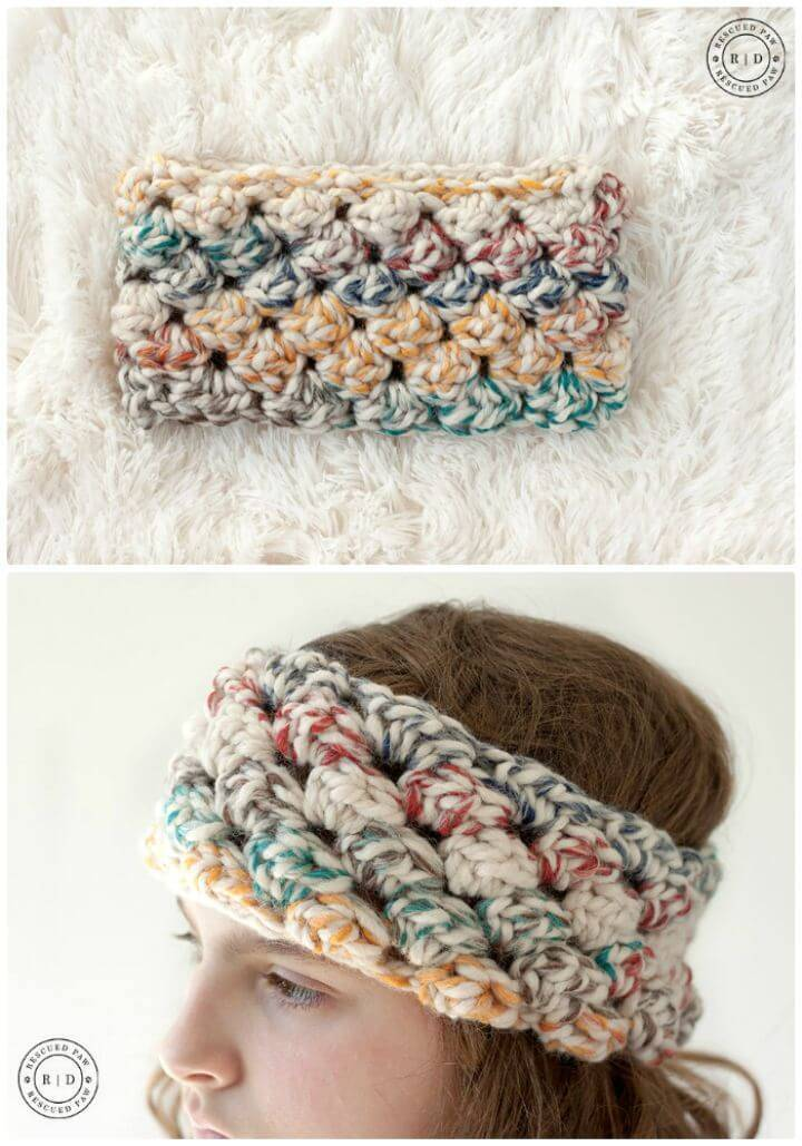Free Crochet Puffed Headband Pattern
