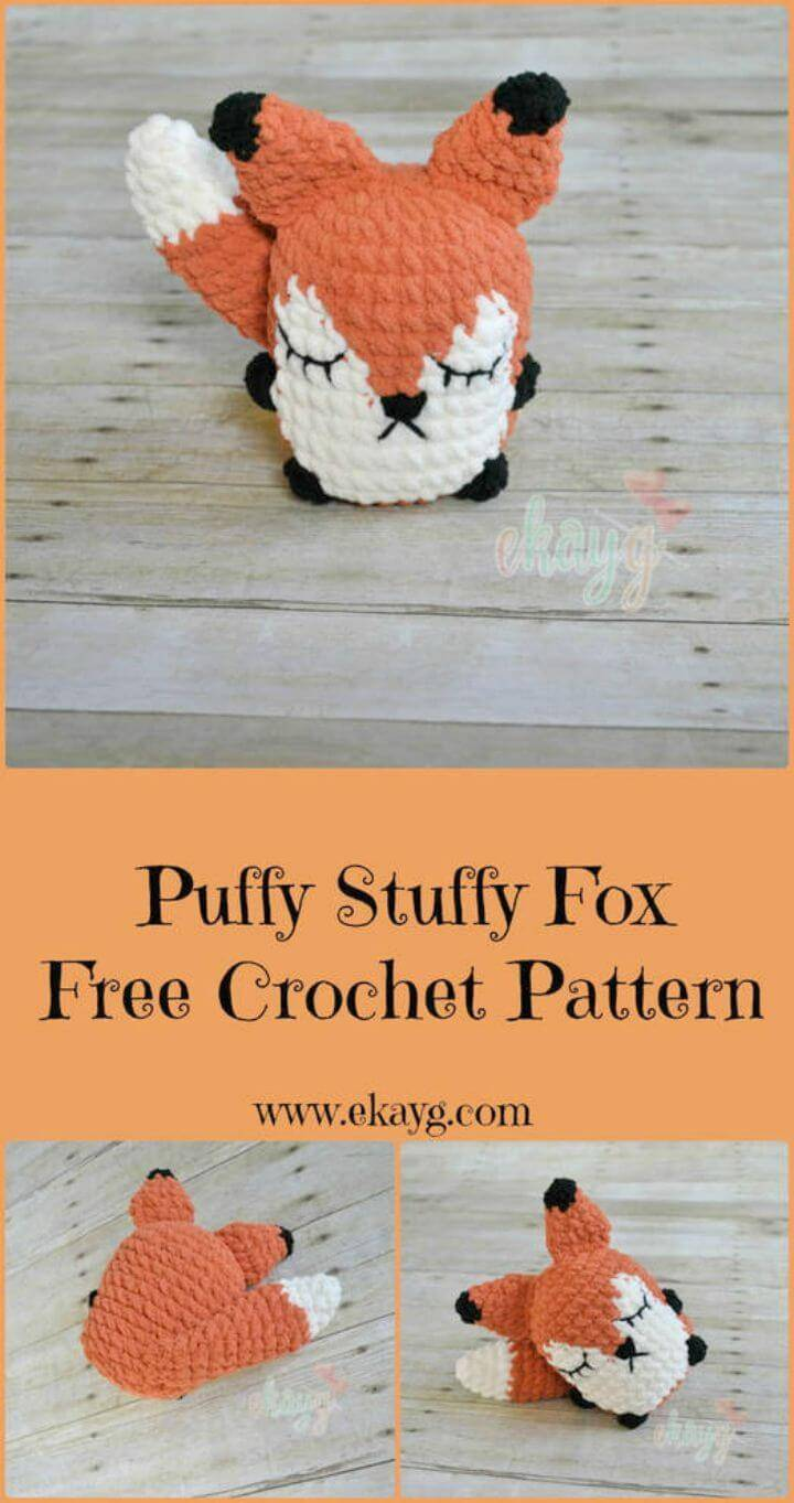 Free Crochet Puffy Stuffy Fox Pattern