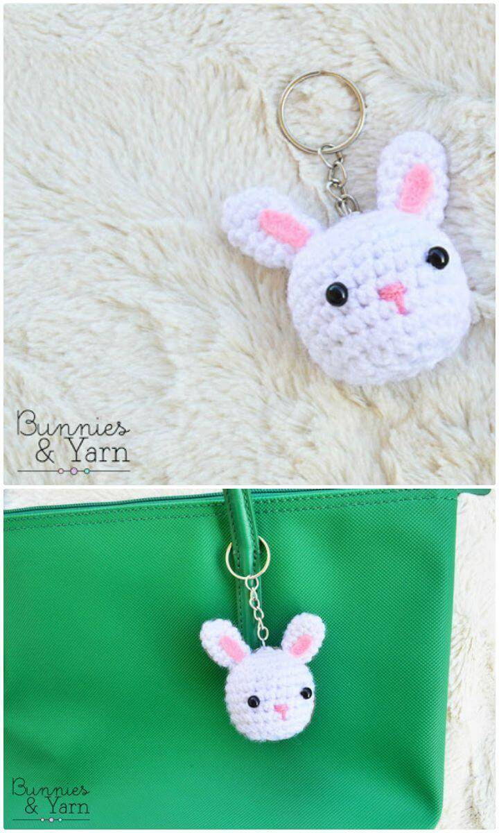 Free Crochet Rabbit Key Chain Pattern