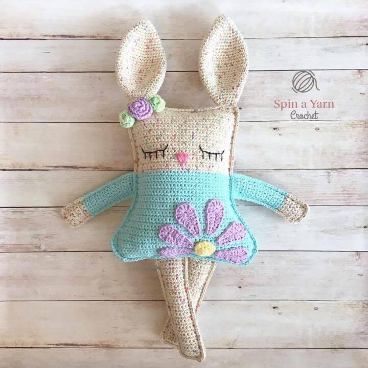 Free Crochet Rag Doll Spring Bunny Pattern