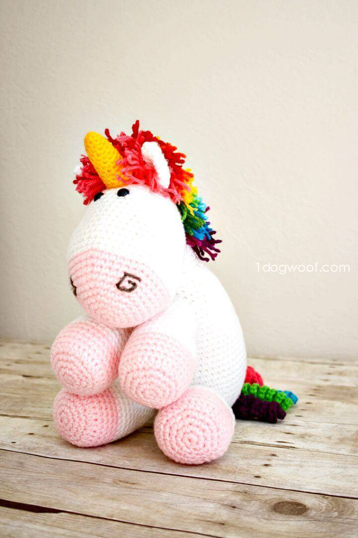 How To Free Crochet Rainbow Cuddles Unicorn Pattern