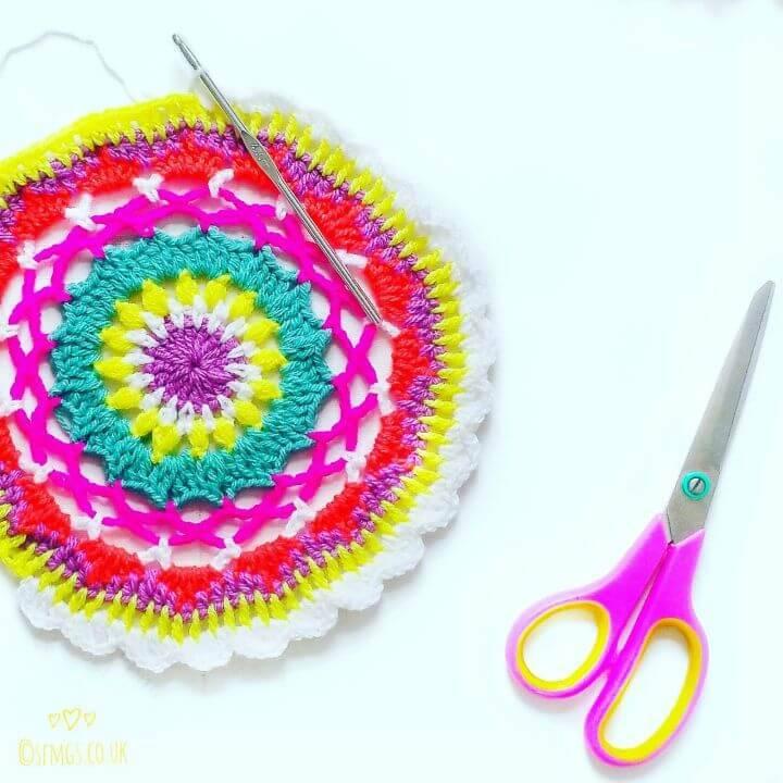How To Crochet Rainbow Mae Mandala Updated - Free Pattern