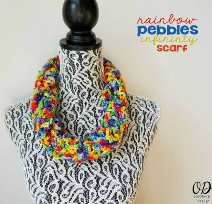 How To Free Crochet Rainbow Pebbles Infinity Scarf Pattern