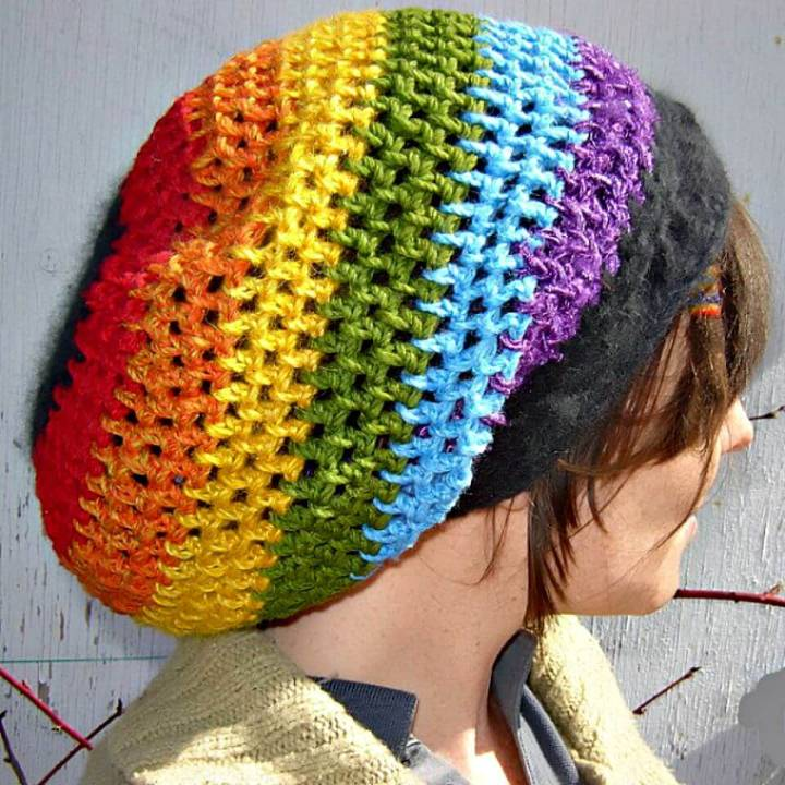 How To Crochet Rainbow Too Dreadlock Tam Pattern