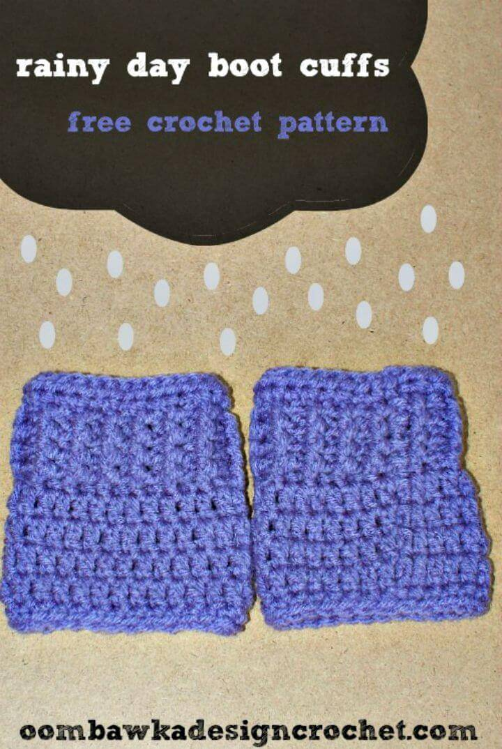 Rainy Day Boot Cuffs - Free Crochet Pattern