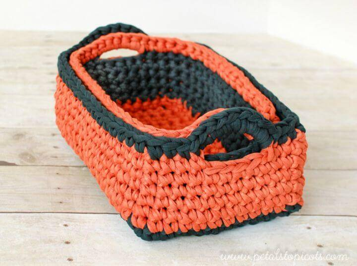 Free Crochet Rectangular Basket Pattern