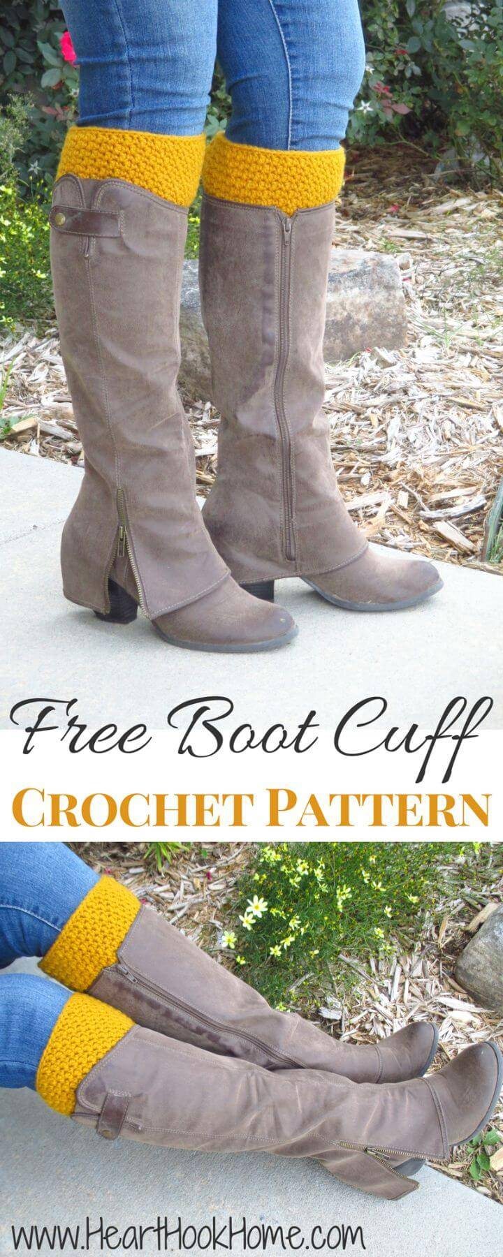 Free Crochet Reversible Boot Cuffs Pattern