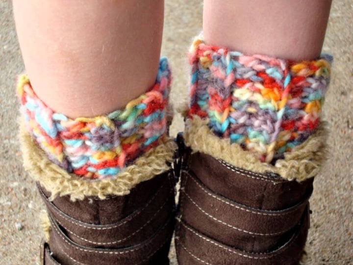 Crochet Ribbed Boot Cuff - Free Pattern
