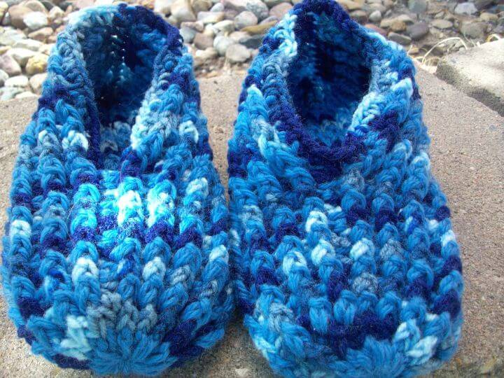 Free Crochet Ribbed Slipper Pattern