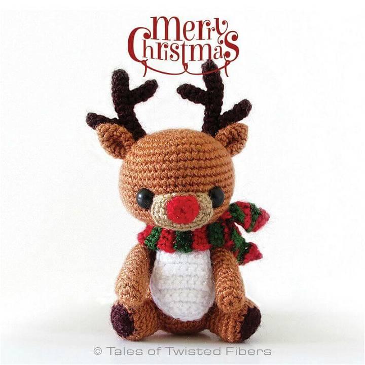 Rudy, The Reindeer Free Crochet Pattern