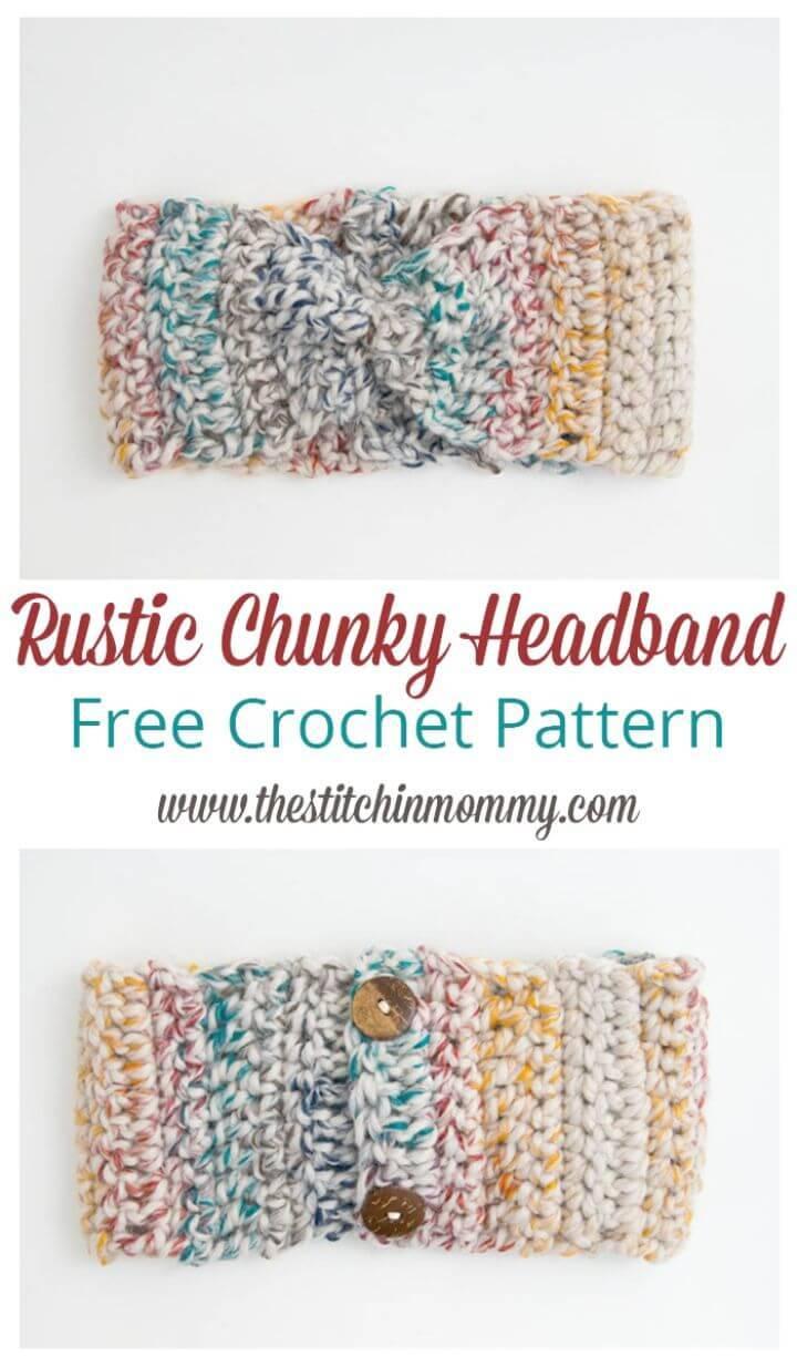 Easy Free Crochet Rustic Chunky Headband Pattern