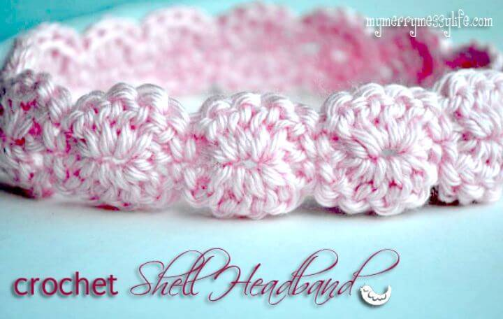Free Crochet Shell Headband Pattern