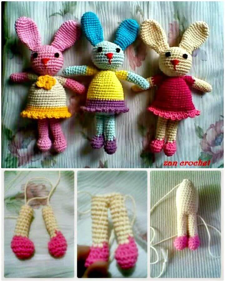 How To Crochet Si Kelinci Amigurumi Pattern