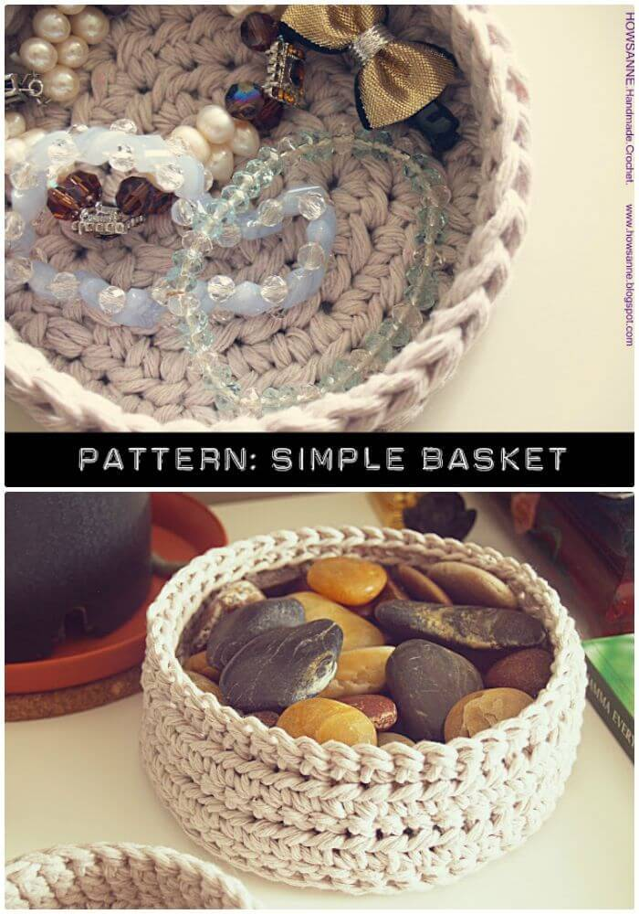 Easy Free Crochet Simple Basket Pattern