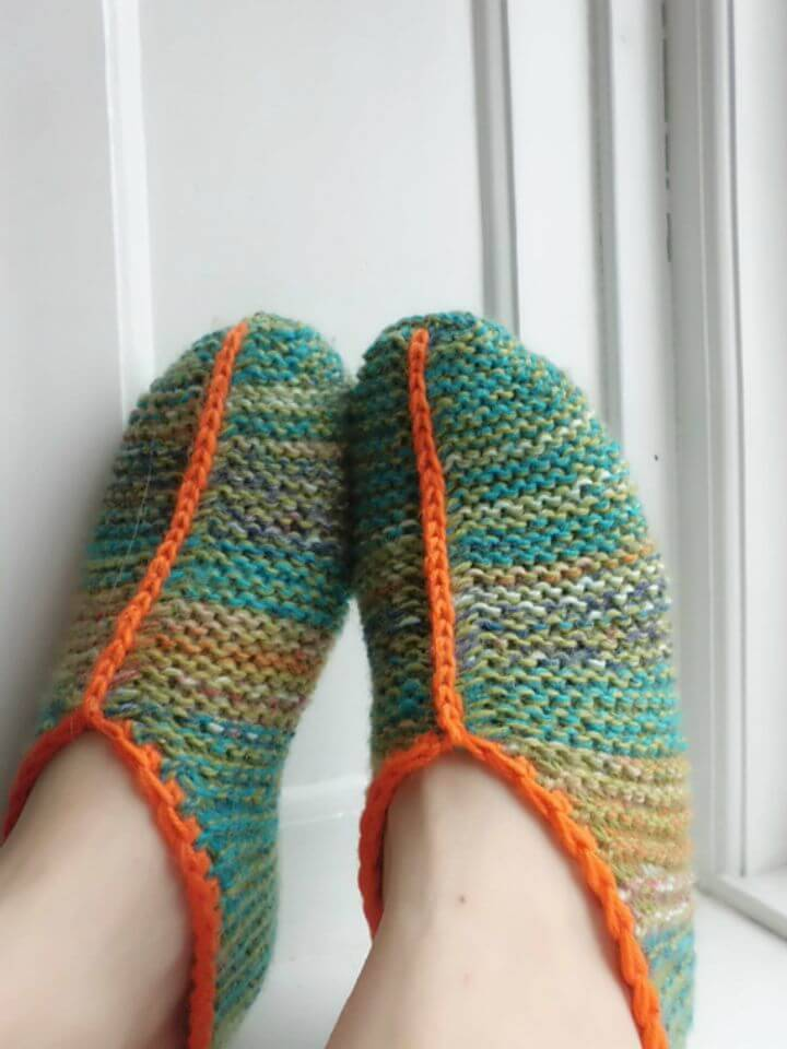 Free Crochet Simple Garter Stitch Slippers