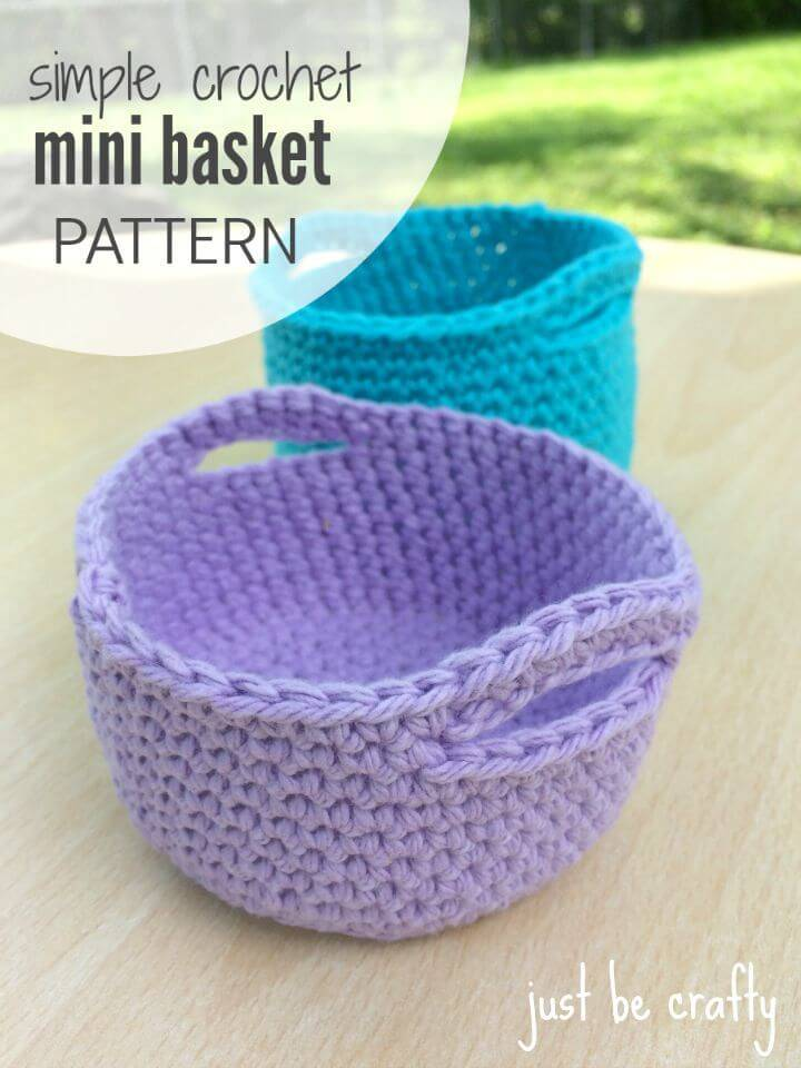 Free Crochet Simple Mini Basket Pattern