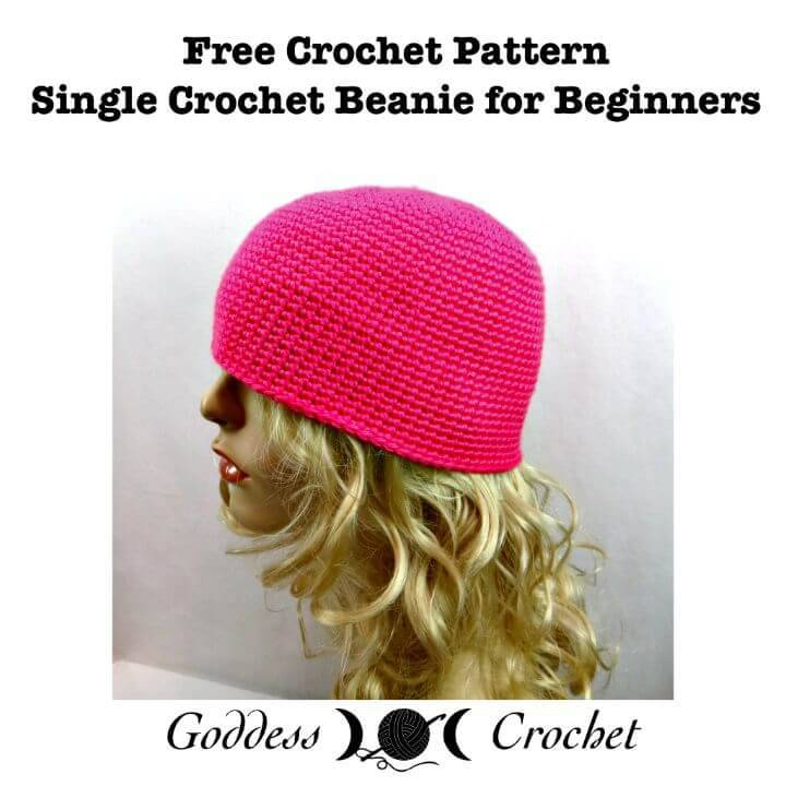 Easy Crochet Single Beanie For Beginners – Free Crochet Pattern