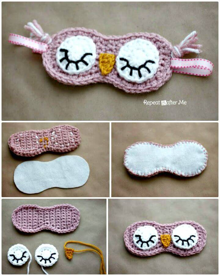 Free Crochet Sleepy Owl Mask Pattern