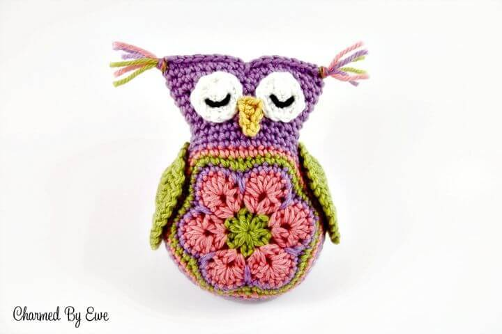 Free Crochet Sleepy Owl Toy Pattern