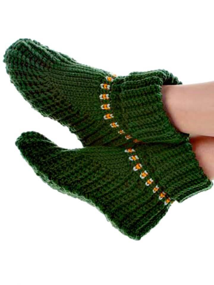 Easy Crochet Slipper Boots - Free Pattern