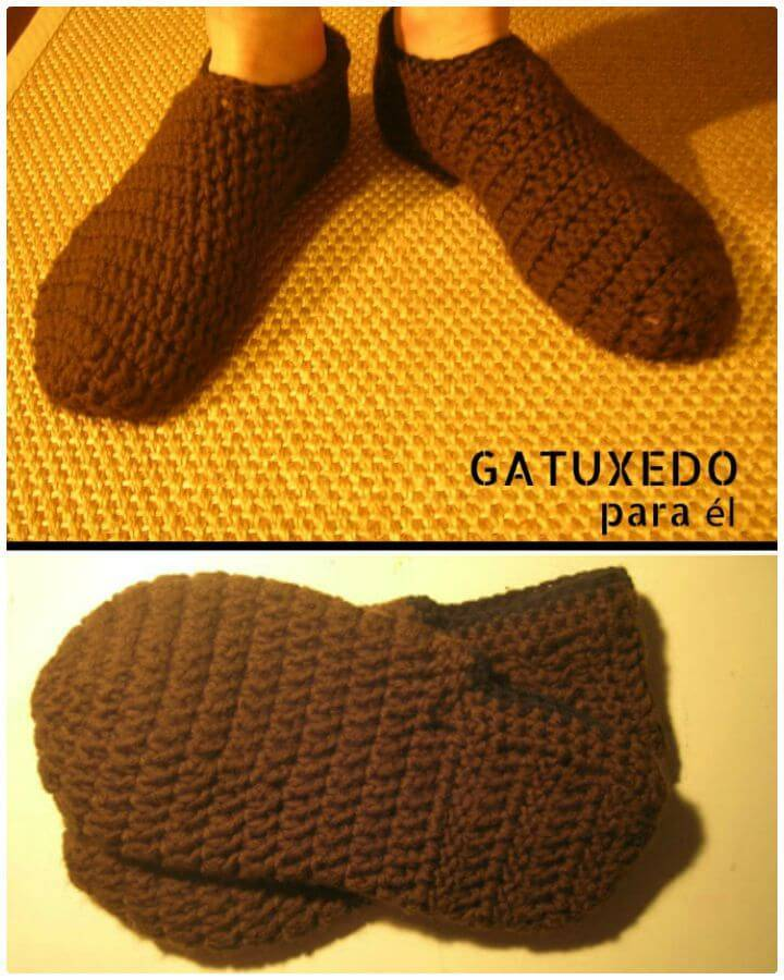 Free Crochet Slippers For Guys - Free Pattern