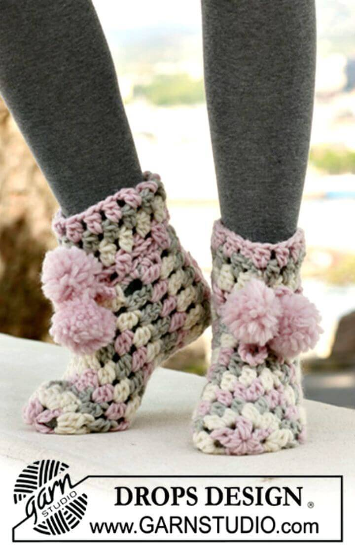 Free Crochet Slippers In Eskimo