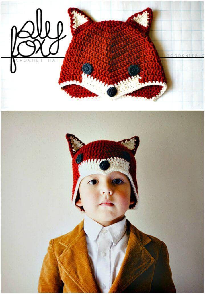 Crochet Sly Fox Hat-Free Step By Step Pattern