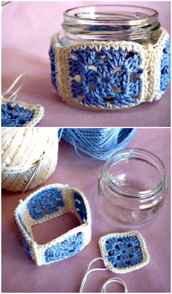 Free Crochet Small Jelly Jar Covers Pattern