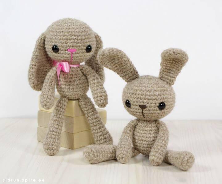 Free Crochet Small Long-Legged Bunny Amigurumi Pattern