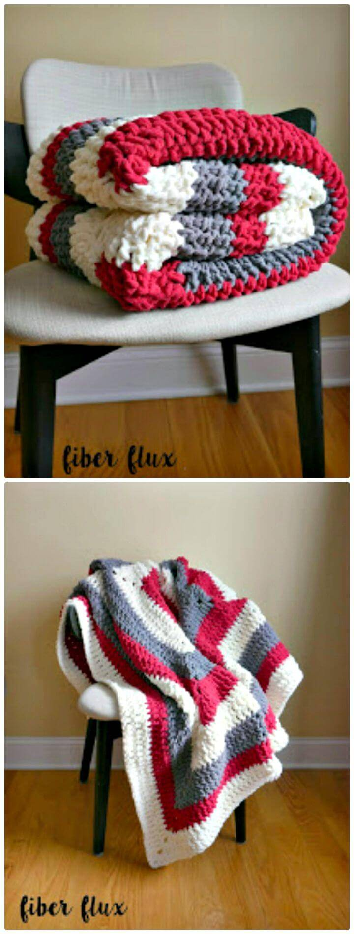 Free Crochet Snow Berries Throw Blanket Pattern