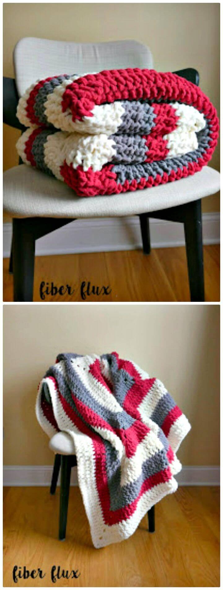 Free Crochet Snow Berries Decke Muster