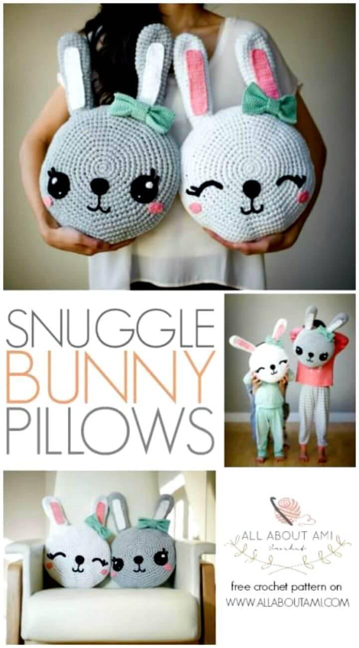 Crochet Snuggle Bunny Pillows - Free Amigurumi