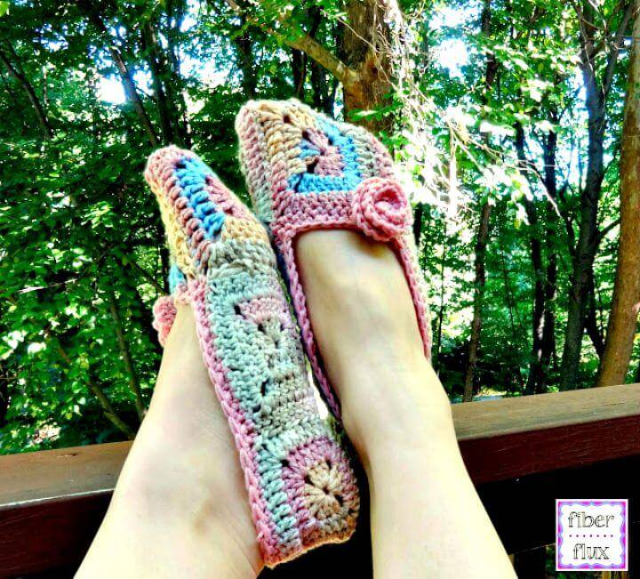 Crochet Soft Blossom Slippers - Free Pattern