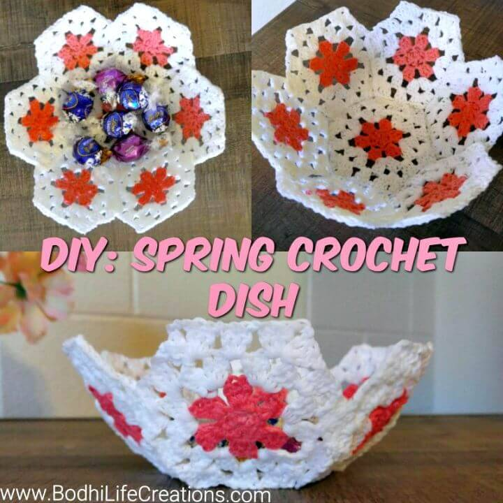Easy Crochet Spring Dish – Free Pattern & Photo+Tutorial