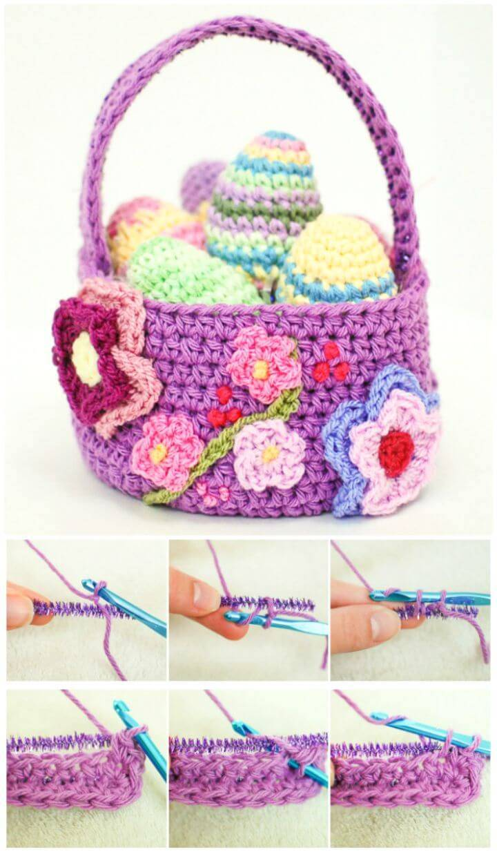 45 Free Crochet Basket Patterns for Beginners - DIY & Crafts
