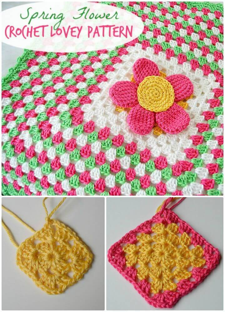 Easy Crochet Spring Flower Lovey - Free Pattern
